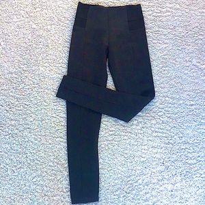 Zara high waisted leggings elastic side panels